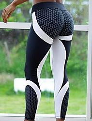 cheap -Women's Basic Legging - Print, Print High Waist Black Gray M L XL / Slim
