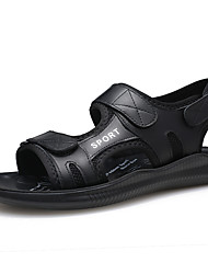 cheap -Men's Comfort Shoes Cowhide Fall / Spring & Summer Vintage / Casual Sandals Breathable Black / Outdoor