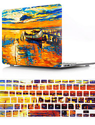 cheap -US Version Oil Painting Dusk Pattern Macbook Plastic Hard Case With Keyboard Cover Protective Compatible With New / Old MacBook Air Pro Retina 11/12/13/15 Inch