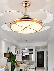 cheap -1-Light 108 cm Multi-shade / LED Ceiling Fan Metal Circle Electroplated LED / Modern 110-120V / 220-240V