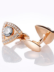cheap -Cufflinks Classic Fashion Crystal Brooch Jewelry Rose Gold For Wedding Party