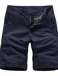 abordables -Homme Basique Short Pantalon - Couleur Pleine Gris Vert Véronèse Kaki 34 36 38