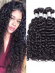 Недорогие -4 Связки Бразильские волосы Волнистые Не подвергавшиеся окрашиванию 100% Remy Hair Weave Bundles 200 g Человека ткет Волосы Пучок волос One Pack Solution 8-28inch Естественный цвет