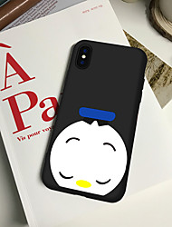 cheap -Case For iPhone XS Max XR XS X Back Case Soft Cover TPU Fashion simple style cute little white duck Soft TPU for iPhone 8 Plus 7 Plus 7 6 Plus 6 8