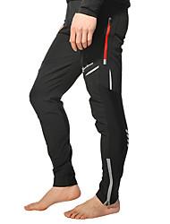 cheap -ROCKBROS Men's Cycling Pants Bike Pants / Trousers Bottoms Reflective Windproof Breathable Sports Polyester Spandex Coolmax® Black / White Mountain Bike MTB Road Bike Cycling Clothing Apparel Bike