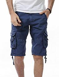 abordables -Homme Chic de Rue Short Pantalon - Couleur Pleine Bleu Gris Vert Véronèse 34 36 38