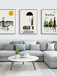 cheap -Framed Art Print Framed Set - Abstract Cartoon PS Illustration Wall Art