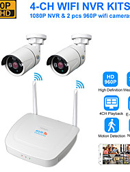 cheap -DIDSeth Wireless NVR kits 4CH 1080P wifi NVR with 2pcs 130W Outdoor Nightvision wireless IP Cameras (open air 600m)