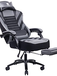cheap -KILLABEE Big &amp Tall 400lb Memory Foam Reclining Gaming Chair Metal Base - Adjustable Back Angle and Retractable Footrest Ergonomic High-Back Leather Racing...
