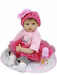 cheap -Reborn Doll Baby Girl 22 inch Silicone - Cute Kids / Teen Lovely Kid's Unisex Toy Gift
