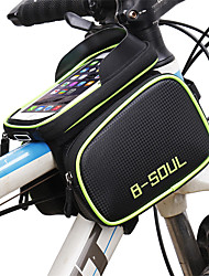 cheap -B-SOUL Cell Phone Bag Bike Frame Bag Top Tube 6.2 inch Touch Screen Waterproof Portable Cycling for Samsung Galaxy S6 Samsung Galaxy S6 edge LG G3 Blue Green Red Road Bike Mountain Bike MTB Outdoor