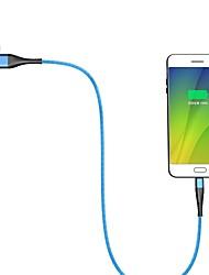 Недорогие -Micro USB Кабель 1.0m (3FT) Быстрая зарядка Алюминий / TPE Адаптер USB-кабеля Назначение Samsung / Huawei / LG