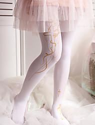 cheap -Maid Costume Cosplay Women's Adults' Princess Lolita Tights Girly Socks / Long Stockings Thigh High Socks Black White Pattern Velvet Lolita Accessories / High Elasticity