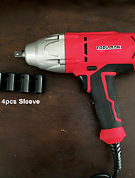 cheap -Toolman Corded Impact Wrench 6A 3200 RPM with 4pcs sockets for Heavy Duty
