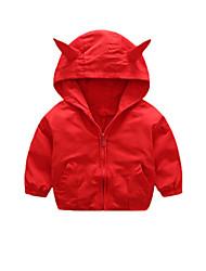 abordables -Enfants Garçon Basique Chic de Rue Couleur Pleine Normal Trench Rouge