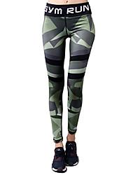 abordables -Femme Pantalon de yoga Bloc de Couleur Course / Running Fitness Entraînement de gym 3/4 Pantacourt Tenues de Sport Séchage rapide Butt Lift Contrôle du Ventre Power Flex Elastique Slim