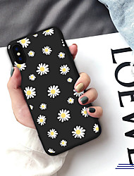 cheap -Case For iPhone XS Max XR XS X Back Case Soft Cover TPU Fresh Daisy  Soft TPU for iPhone 8 Plus 7 Plus 7 6 Plus 6 8