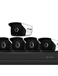 cheap -3 million H.265 POE 5-way Set Monitoring Camera Household Equipment POE Network Audio High Definition Night Vision Camera Set
