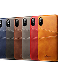 cheap -Phone Case For Apple Back Cover Leather iPhone 12 Pro Max 11 SE 2020 X XR XS Max 8 7 6 Card Holder Solid Color Hard Genuine Leather