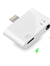 cheap -2 in 1 Lightning to 3.5 MM Jack Earphone Aux IOS 9/10/11/12 for Iphone XS Max X 8 7 Plus Dual Headphone Audio Charge Adapter