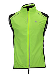 cheap -ROCKBROS Men's Cycling Vest Bike Vest / Gilet Reflective Windproof Breathable Sports Polyester Mesh Black / Orange / Green Clothing Apparel Loose Bike Wear / Micro-elastic / Quick Dry / Plus Size
