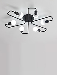 cheap -6-Light 75 cm Flush Mount Lights Metal Industrial Painted Finishes Retro Country 110-120V 220-240V E26 E27