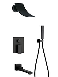 cheap -Shower Faucet - Contemporary / Antique Painted Finishes Other Ceramic Valve Bath Shower Mixer Taps