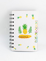 cheap -New Novelty Paper Pineapple Design Coil Book / Note Book Loose Leaf Notebook For School Office Stationery