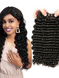 cheap -3 Bundles Peruvian Hair Deep Wave Virgin Human Hair 100% Remy Hair Weave Bundles Headpiece Bundle Hair Human Hair Extensions 8-28 inch Natural Color Human Hair Weaves Odor Free Fashionable Design Life