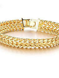 cheap -Men's Women's Chain Bracelet Hollow Out Happy Stylish 18K Gold Filled Bracelet Jewelry Gold For Gift Daily