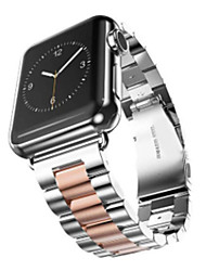 cheap -Watch Band for Apple Watch Series 4/3/2/1 Apple Butterfly Buckle Stainless Steel Wrist Strap