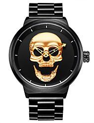 cheap -HANNAH MARTIN Men's Digital Watch Quartz Skull Cool Analog Black Gold / One Year / Stainless Steel