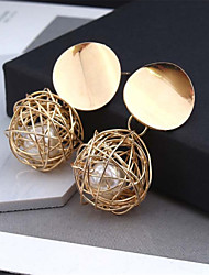 cheap -Women's Drop Earrings Hollow Out Ball Hope Stylish Artistic Trendy Romantic Earrings Jewelry Gold / White For Gift Daily Street Holiday Festival 1 Pair