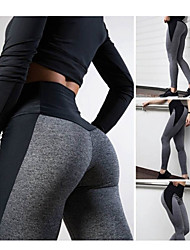 cheap -Women's High Waist Yoga Pants Fashion Grey Running Fitness Gym Workout Tights Leggings Sport Activewear Moisture Wicking Butt Lift Tummy Control High Elasticity Slim