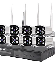 cheap -8CH 720P 2019 8CH HD 720P battery IP Camera PIR WiFi Wireless NVR Security Kit 8CH way audio outdoor