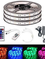 cheap -BRELONG Smart WIFI SMD 5050 10mm Light With RGB 24Keys 15M 900LED IP65 Not Waterproof DC12V With 5A EU Power