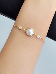 cheap -Women's Chain Bracelet Link / Chain Vertical / Gold bar Stylish Artistic Fashion Pearl Bracelet Jewelry Gold For Gift Prom Work Festival
