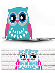 cheap -US Version Cartoon Pattern Macbook Plastic Hard Case With Keyboard Cover Protective Compatible With New / Old MacBook Air Pro Retina 11/12/13/15 Inch