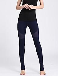 cheap -Women's High Waist Yoga Pants Leggings Breathable Quick Dry White Black Royal Blue Mesh Fitness Sports Activewear High Elasticity Slim