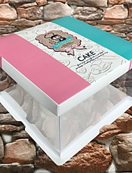 cheap -Cuboid Cardboard / Cardboard Paper Favor Holder with Pattern / Print Gift Boxes - 1pc