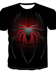 cheap -Men's T shirt Graphic Print Short Sleeve Daily Tops Black