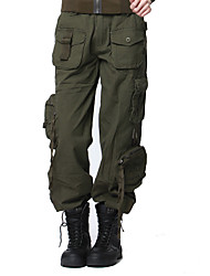 cheap -Men's Women's Hiking Pants Summer Outdoor Breathable Quick Dry Sweat-wicking Multi-Pocket Cotton Pants / Trousers Bottoms Fishing Climbing Camping / Hiking / Caving Black Army Green Camouflage 27 28