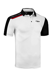 cheap -Men's Tee / T-shirt Short Sleeve Golf Outdoor Autumn / Fall Spring Summer / Cotton / Stretchy / Quick Dry / Breathable / Solid Color