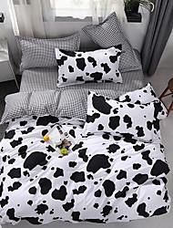 cheap -Cow Spot Duvet Cover Sets Cheap Black White Bedding Set With Pillowcase Bed Linen Sheet Single Double Queen King Size Quilt Covers Bedclothes
