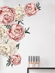 cheap -Beautiful Flowers Wall Stickers - Plane Wall Stickers Transportation / Landscape Study Room / Office / Dining Room / Kitchen