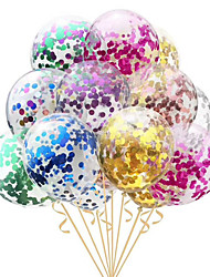 cheap -10pcs/lot Clear Balloons Gold  Foil Confetti Transparent Balloons Happy Birthday Baby Shower Wedding Party Decorations