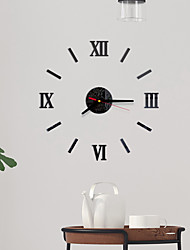 cheap -Modern Contemporary / Fashion Acrylic Round Classic Theme Indoor / Outdoor Battery Decoration Wall Clock Yes Black No
