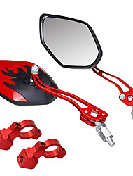 cheap -Rear View Mirror Handlebar Bike Rear View Mirror Adjustable Durable Large Rear View Angle Cycling Bicycle motorcycle Bike Aluminum Alloy PVC(PolyVinyl Chloride) Black Gold Red Mountain Bike MTB