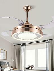 cheap -1-Light 108 cm Mini Style / Tri-color Ceiling Fan Metal Circle / Mini Electroplated LED / Modern 110-120V / 220-240V