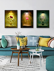 cheap -Framed Art Print Framed Set - Floral / Botanical PS Illustration Wall Art